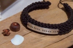Knitted Leather Bracelet Your Choice of Clasp