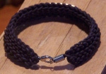 Knitted Leather Bracelet Silver Lobster Claw