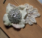 Vintage Lace Alligator Clip